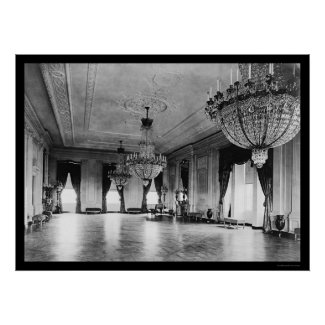 White House Chandeliers 1903 print