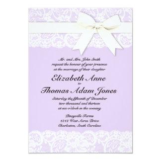 Grand Soiree Lilac Gray Wedding Invitations