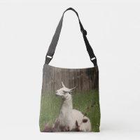 White Llama Crossbody Bag