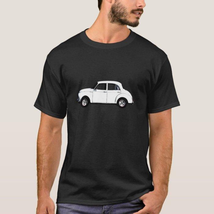 White Morrie Black T-shirt