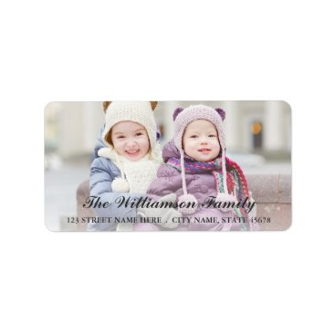 White Overlay Photo Address Labels