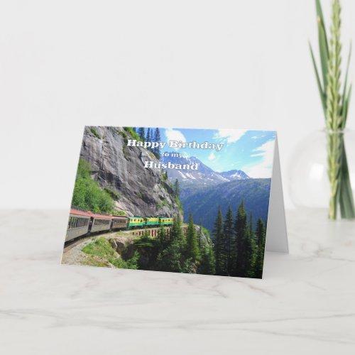White Pass & Yukon Route Husband Happy Birthday card