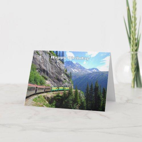 White Pass & Yukon Route Railway Happy Birthday card