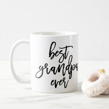 White Photo Best Grandpa Ever Handwritten Script Coffee Mug