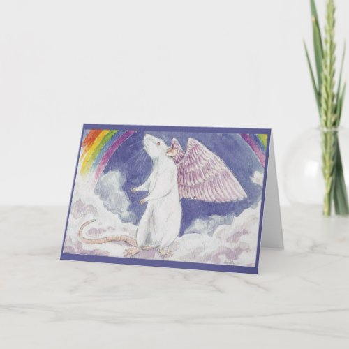 White Rat Angel Card