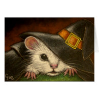 WHITE RAT HALLOWEEN Card
