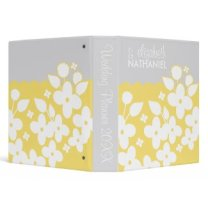 White Spring Garden Wedding Planner Binder |Yellow