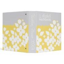 White Spring Garden Wedding Planner Binder |Yellow