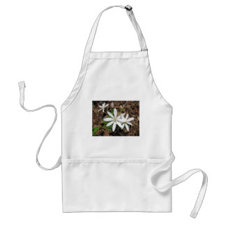 White Woodland Flower Aprons
