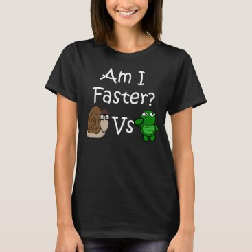 Who Is Faster? Turtle or Snail T-Shirt