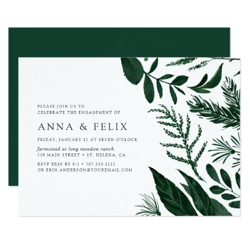 Wild Forest Engagement Party Invitation
