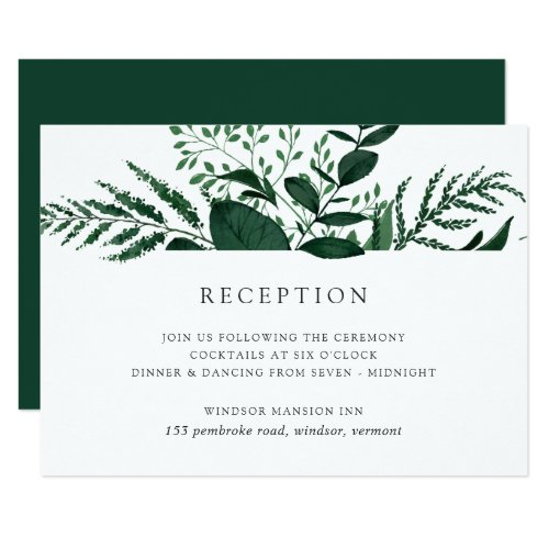 Wild Forest Reception Card
