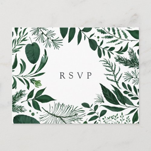Wild Forest RSVP Postcard with Meal Choice