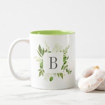 Wild Meadow Monogram Two-Tone Coffee Mug
