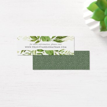 Wild Meadow Wedding Website Cards | Mini