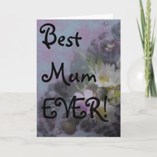 wildflower, Best Mum EVER! heart card