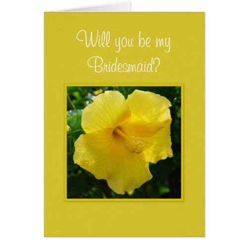 Will you be my Bridesmaid? Stationery Note Card
