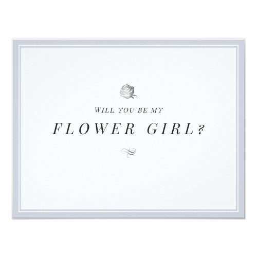 Will you be my flower girl floral minimalist invitation