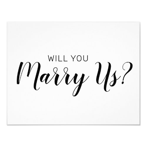 Will You Be Our Officiant | Wedding Marry Us Invitation