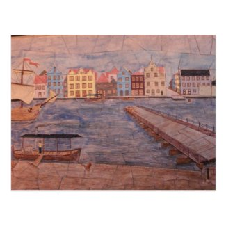 Willemstad Curacao Colorful Artwork Post Cards
