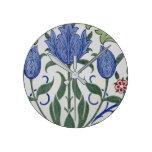 William Morris - Floral Wallpaper Design Round Clock