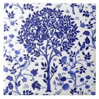 Cobalt Blue Ceramic Tiles | Zazzle