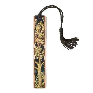 William Morris Tree Of Life Floral Vintage Art Bookmark