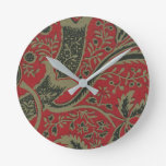 William Morris - Wallpaper Sample With Bamboo Round Clock