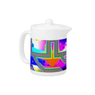 Window into the Universe –Magenta & Cyan Intersect zazzle_teapot