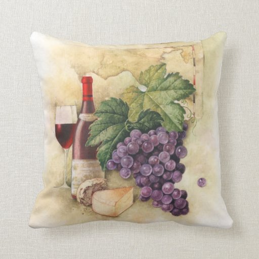 Wine and Cheese Pillow  Zazzle