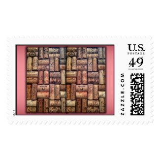 Wine Cork Collage Postage Stamp