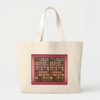 Wine Corks Collage Canvas Bags