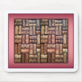 Wine Corks Collage Mousepads