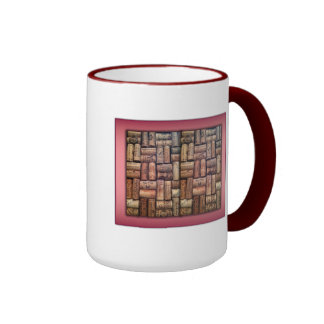 Wine Corks Collage Mugs