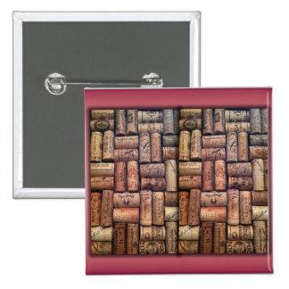 Wine Corks Collage Pinback Button