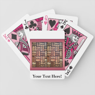 Wine Corks Collage Playing Cards