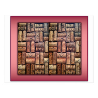 Wine Corks Collage Post Card