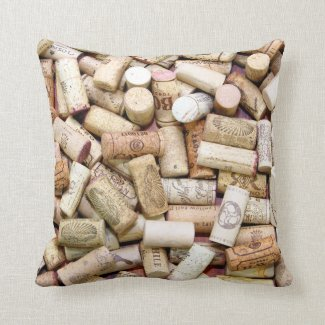 Wine Corks Pillow