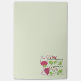 Wine Improves With Age Post-it® Notes