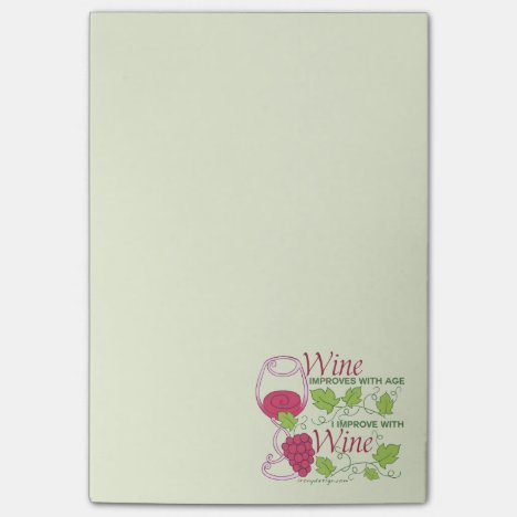 Wine Improves With Age Post-it Notes