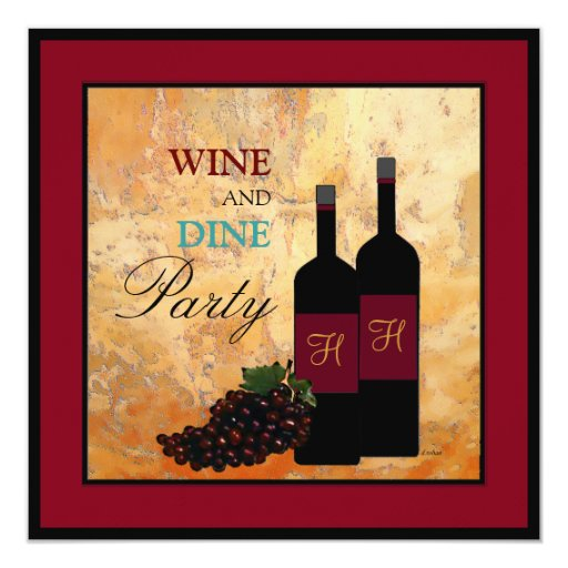 Wine Tasting and Dinner Party Card
