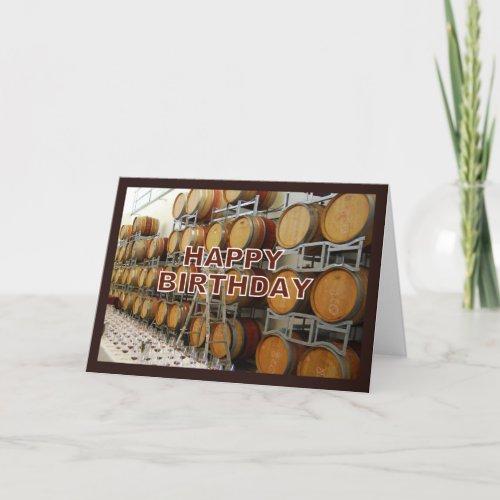 Winery Happy Birthday card