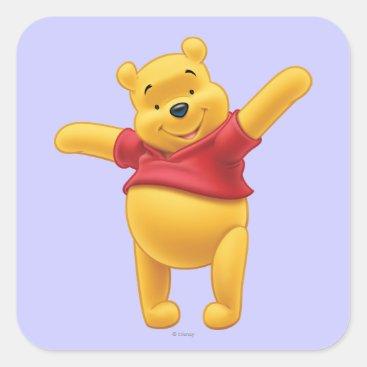 Winnie the Pooh 1 Square Sticker