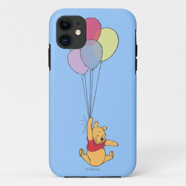Winnie the Pooh and Balloons iPhone 11 Case