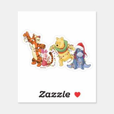 Winnie the Pooh | Christmas Lights Sticker