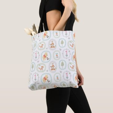 Winnie the Pooh | Cute Woodland Animals Pattern Tote Bag