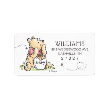 Winnie the Pooh | First Birthday Label