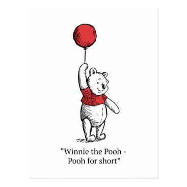 Winnie the Pooh for Short Postcard