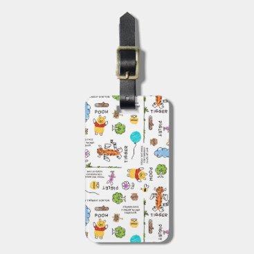 Winnie the Pooh | Friends Doodle Sketch Pattern Bag Tag