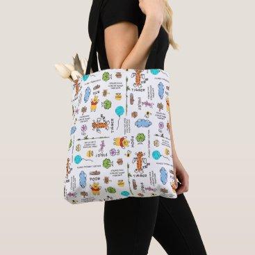 Winnie the Pooh | Friends Doodle Sketch Pattern Tote Bag